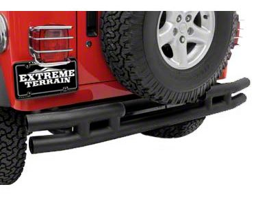 Smittybilt Tubular Rear Bumper w/o Hitch - Textured Black (87-06 Jeep Wrangler YJ & TJ)