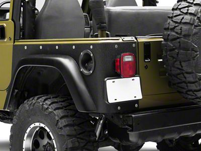 Smittybilt Textured Black XRC Rear Corner Guards (97-06 Jeep Wrangler TJ, Excluding Unlimited)