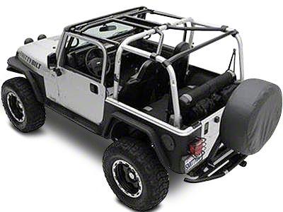 Smittybilt SRC Cage Kit - 7 Piece - Gloss Black (07-10 Jeep Wrangler JK 2 Door)