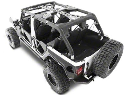 Smittybilt SRC Cage Kit - 7 Piece - Gloss Black (10-18 Jeep Wrangler JK 2 Door)