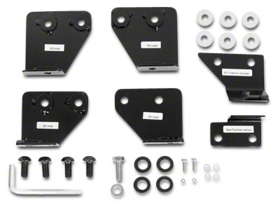 Smittybilt Seat Adapters - Front - All Seats - Includes Driver & Passenger Side (07-18 Jeep Wrangler JK)
