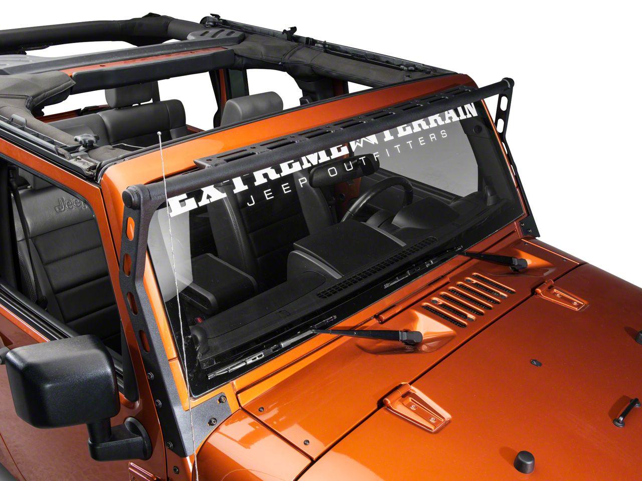 Smittybilt XRC Light Bar - Textured Black (07-18 Jeep Wrangler JK)