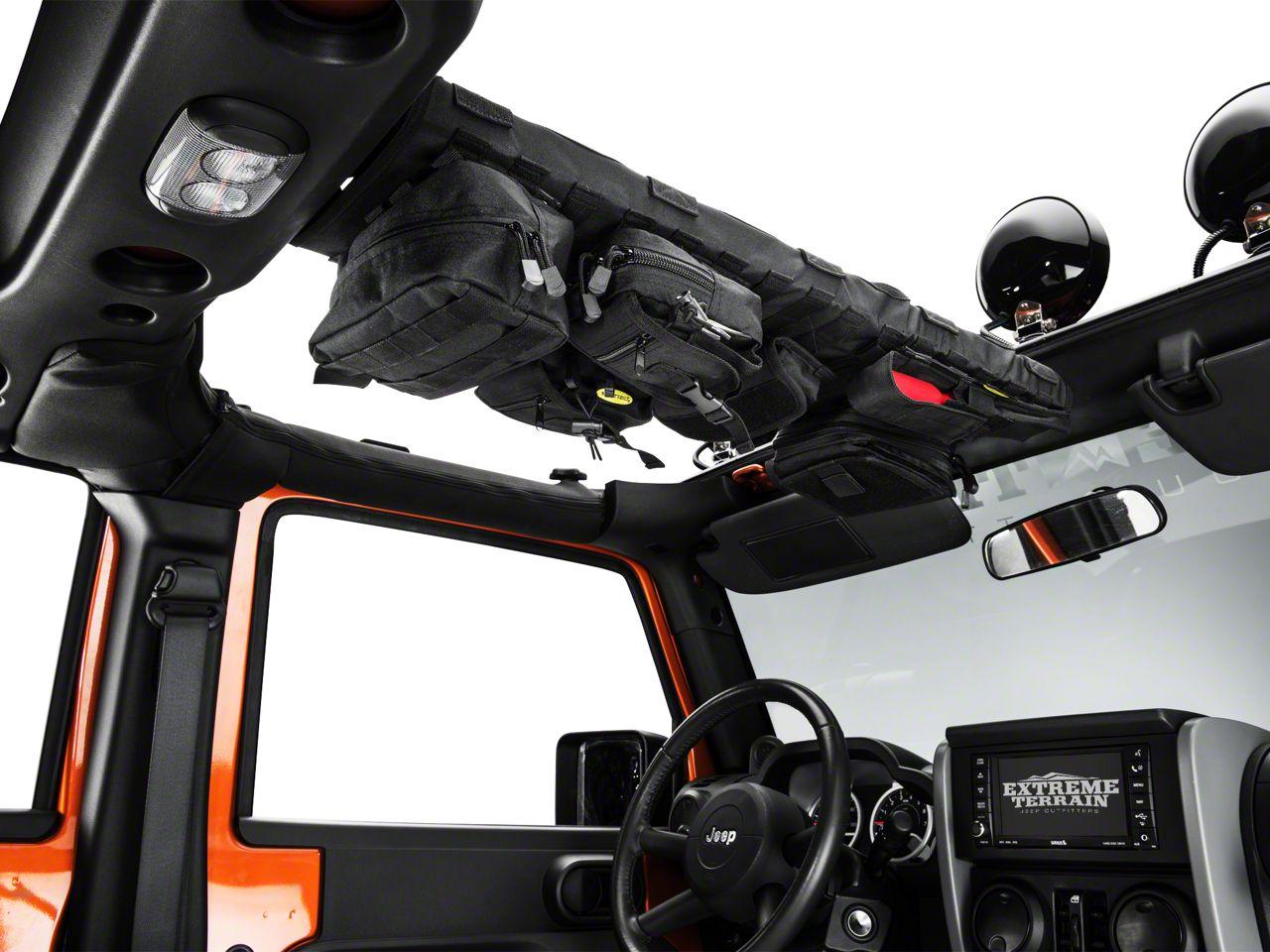 Smittybilt GEAR Overhead Console - Black (07-18 Jeep Wrangler JK)