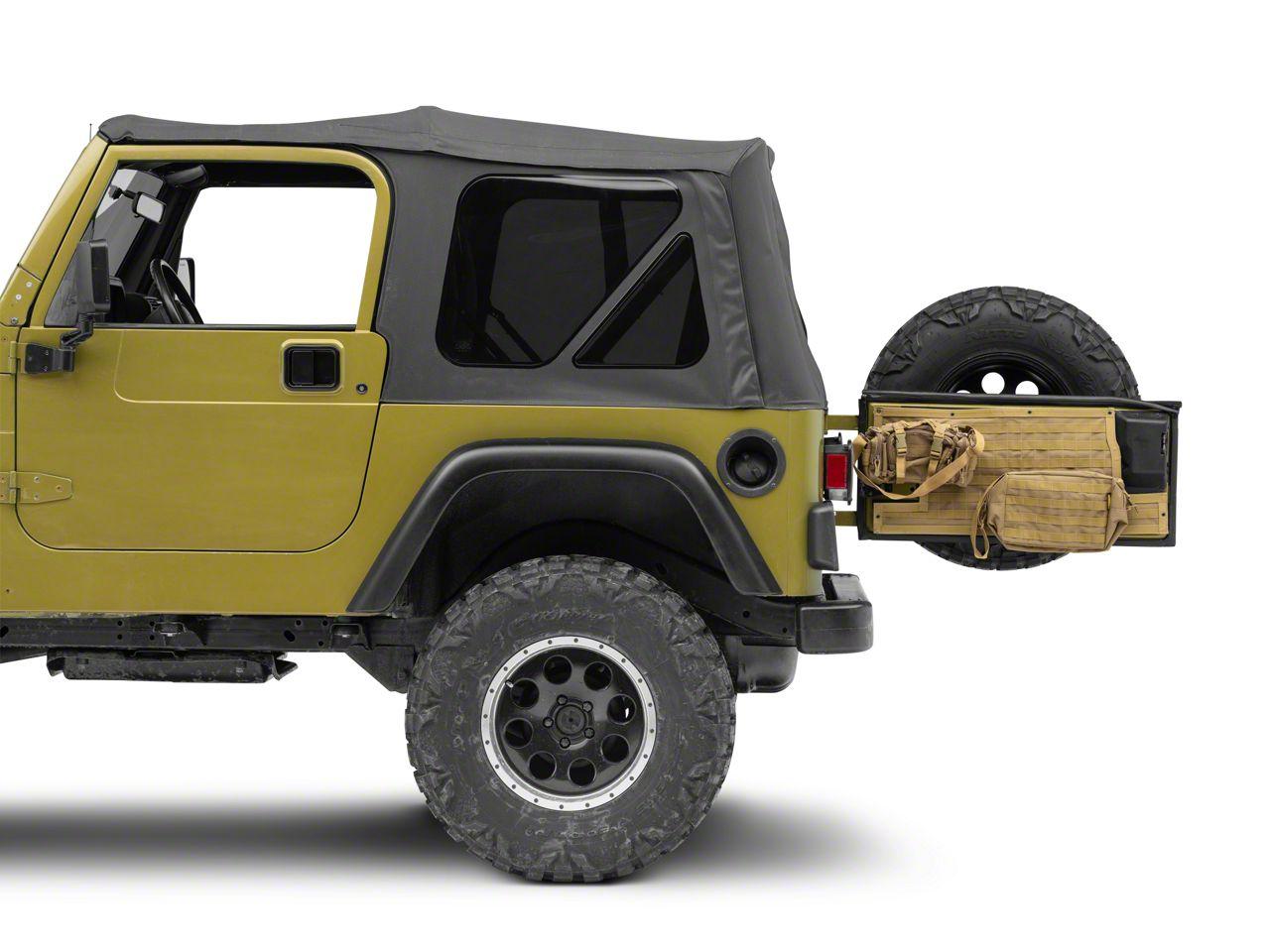 Smittybilt G.E.A.R. Tailgate Cover - Coyote Tan (97-06 Jeep Wrangler TJ)