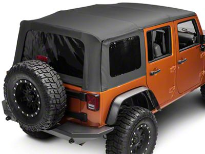 Smittybilt OEM Replacement Soft Top w/Tinted Windows - Black Diamond (10-18 Jeep Wrangler JK 4 Door)