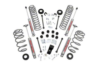 Rough Country 3.25 in. Suspension Lift Kit w/ Premium N2.0 Shocks (97-02 4.0L Jeep Wrangler TJ)