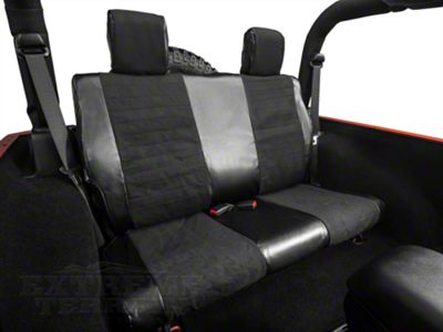 Smittybilt XRC Rear Seat Cover - Black (07-18 Jeep Wrangler JK 2 Door)