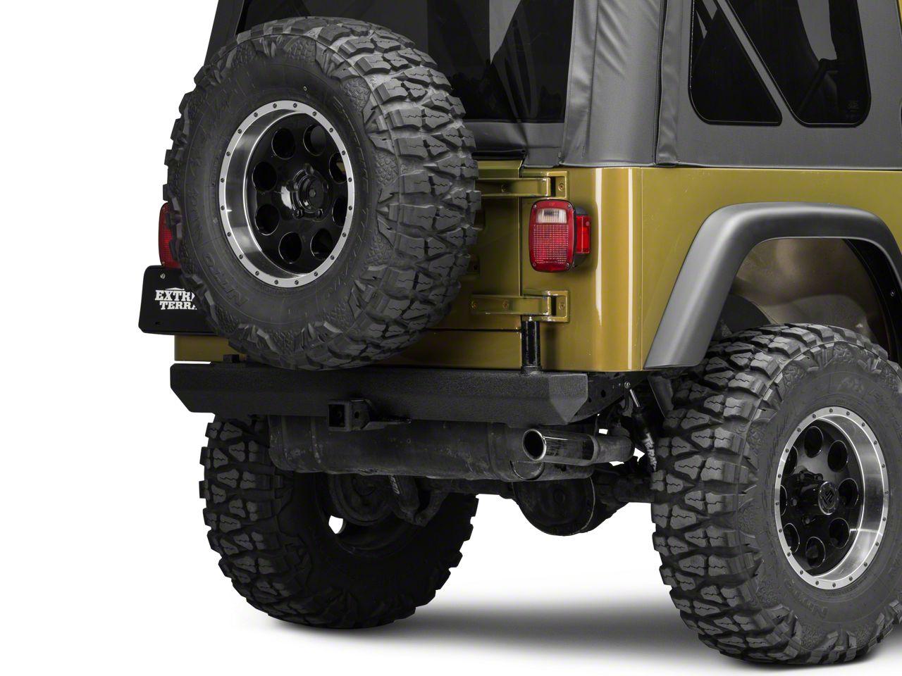 Smittybilt SRC Classic Rear Bumper - Textured Black (87-06 Jeep Wrangler YJ & TJ)