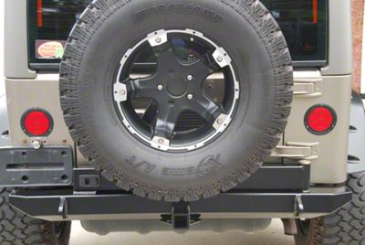 Hyline Offroad Tire Carrier Ready Rear Bumper (07-18 Jeep Wrangler JK)