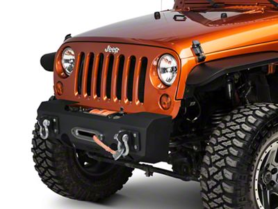 Off Camber Fabrications by MBRP Stubby Front Winch Bumper (07-18 Jeep Wrangler JK)