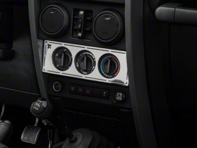 T-REX T1 Series Interior Dash Trim - Climate Control Panel (07-10 Jeep Wrangler JK)