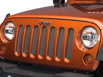 T-REX Sport Series Formed Mesh Grille - Chrome (07-18 Jeep Wrangler JK)