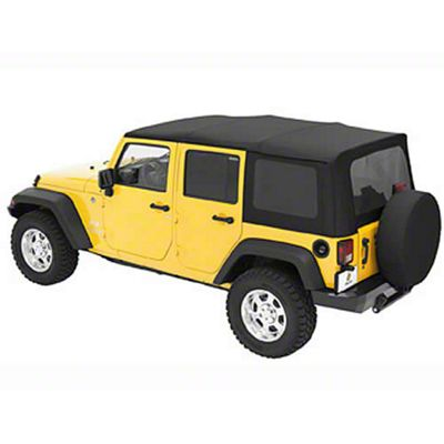 Bestop Sailcloth Replace-A-Top w/ Tinted Windows - Black Diamond (07-09 Jeep Wrangler JK 4 Door)