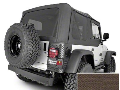 Rugged Ridge Soft Top w/ Tinted Windows & No Door Skins - Khaki Diamond (03-06 Jeep Wrangler TJ w/ Factory Soft Top, Excluding Unlimited)