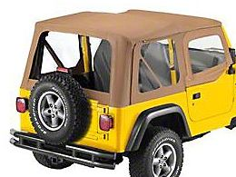 Bestop Replace-A-Top Clear Windows w/ Upper Half Door Skins - Spice (97-02 Jeep Wrangler TJ)