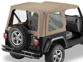Bestop Soft Top Replace-A-Top Clear Windows - Dark Tan (97-02 Jeep Wrangler TJ w/ Full Steel Door)