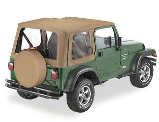 Bestop Soft Top Replace-A-Top Clear Windows - Spice (97-02 Jeep Wrangler TJ w/ Full Steel Door)