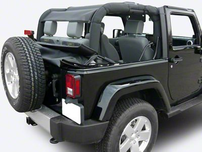 Dirty Dog 4x4 Rear Sun Screen (07-18 Jeep Wrangler JK 2 Door)