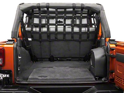 Dirty Dog 4x4 Rear Pet Divider - Half - Black (07-18 Jeep Wrangler JK 4 Door)
