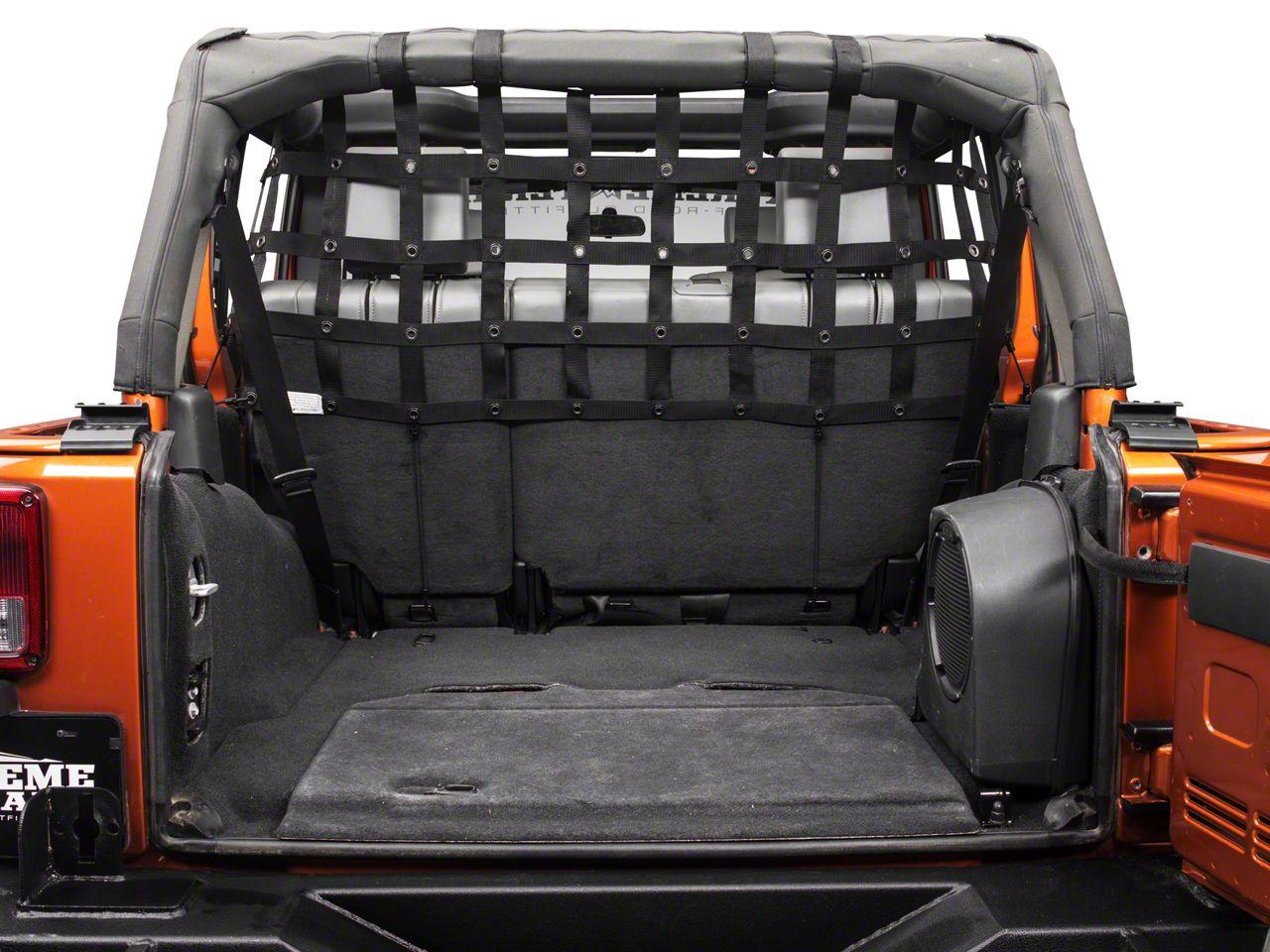 Dirty Dog 4x4 Rear Pet Divider - Half - Black (07-18 Jeep Wrangler JK 4 Door)