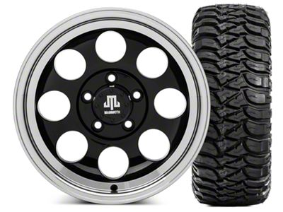 Mammoth 8 15x8 Wheel & Mickey Thompson Baja MTZ 33X12.50R15 Tire Kit (87-06 Jeep Wrangler YJ & TJ)