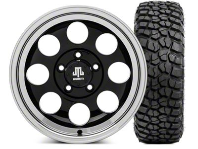 Mammoth 8 15x8 Wheel & BFG KM2 35x12.5- 15 Tire Kit (87-06 Jeep Wrangler YJ & TJ)