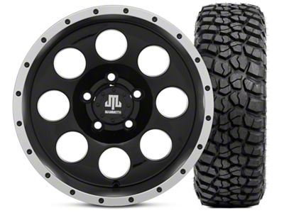 Mammoth 8 Beadlock 15x8 Wheel & BFG KM2 33x10.5- 15 Tire Kit (87-06 Jeep Wrangler YJ & TJ)