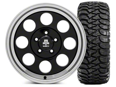 Mammoth 8 16x8 Wheel & Mickey Thompson Baja MTZ 35x12.5- 16 Tire Kit (87-06 Jeep Wrangler YJ & TJ)