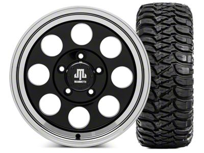 Mammoth 8 Wheel - 16x8 Wheel - and Mickey Thompson Baja MTZ 35x12.5- 16 Tire Kit (07-18 Jeep Wrangler JK)