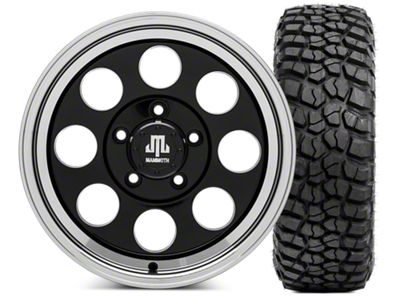 Mammoth 8 Wheel - 16x8 Wheel - and BFG KM2 Tire 315/75- 16 Tire Kit (07-18 Jeep Wrangler JK)