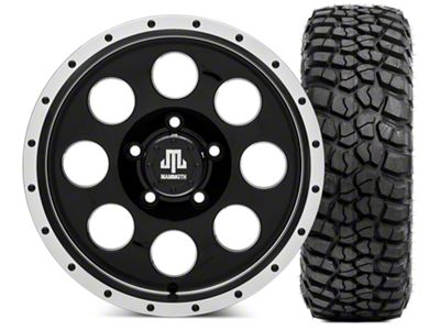 Mammoth 8 Beadlock Wheel - 16x8 Wheel - and BFG KM2 Tire 315/75- 16 (07-18 Jeep Wrangler JK)