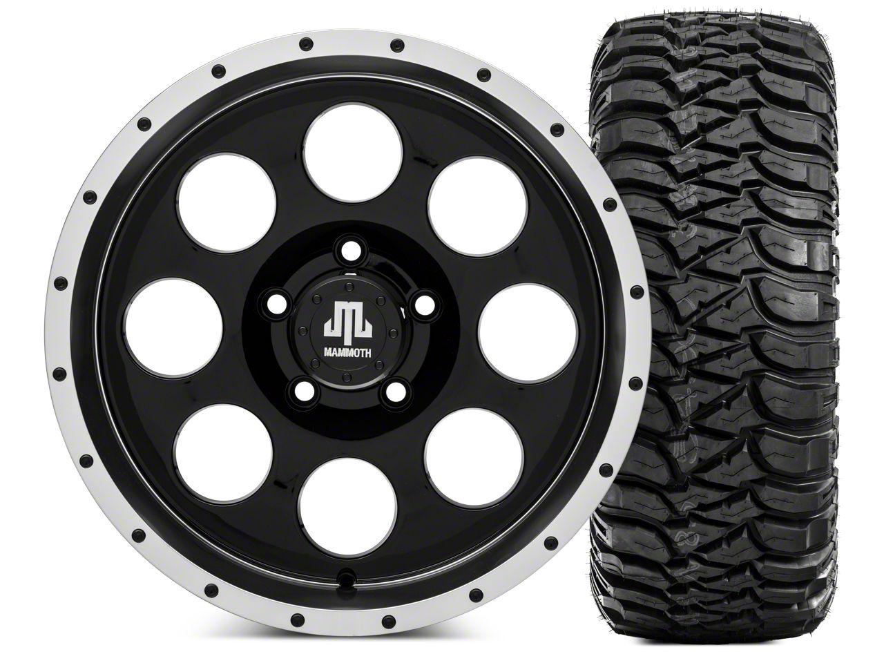Mammoth 8 Beadlock Wheel - 17x9 and Mickey Thompson Baja MTZ 305/70- 17 (07-18 Jeep Wrangler JK)