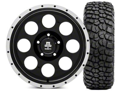 Mammoth 8 Beadlock Wheel - 17x9 and BFG KM2 Tire 35x12.5x17 (07-18 Jeep Wrangler JK)