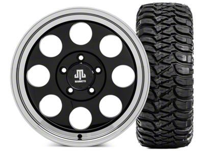 Mammoth 8 Wheel - 17x9 Wheel and Mickey Thompson Baja MTZ 305/70- 17 Tire Kit (07-18 Jeep Wrangler JK)