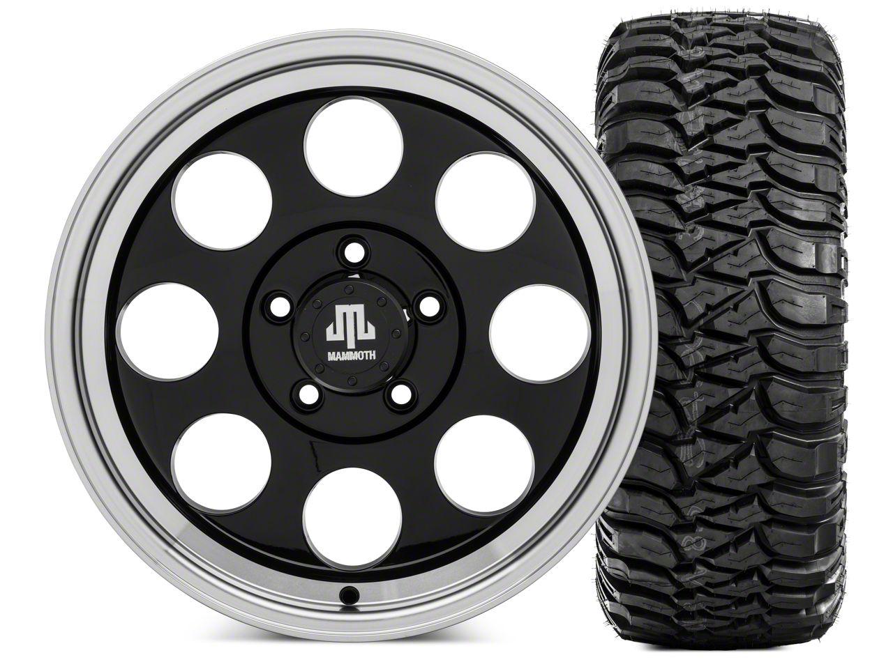 Mammoth 8 Wheel - 17x9 Wheel and Mickey Thompson Baja MTZ 305/70- 17 Tire Kit (07-18 Jeep Wrangler JK)