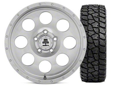 Mammoth 8 Beadlock Style Polished 15x8 Wheel & Mickey Thompson Baja ATZP3 33X12.50R15LT Tire Kit (87-06 Jeep Wrangler YJ & TJ)