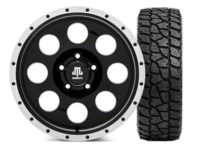 Mammoth 8 Beadlock 16x8 Wheel & Mickey Thompson Baja ATZP3 LT285/75R16 Tire Kit (87-06 Jeep Wrangler YJ & TJ)