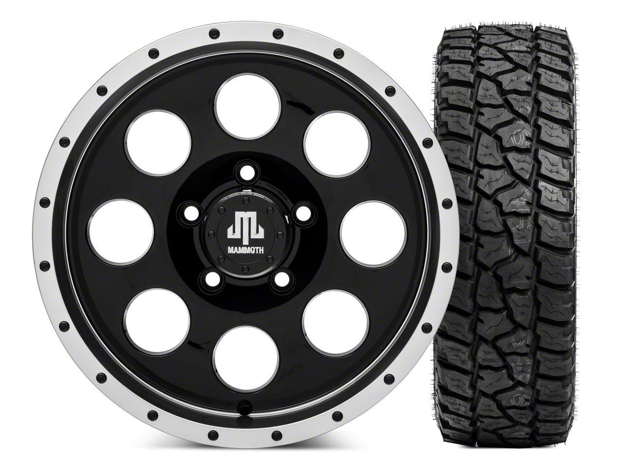 Mammoth 8 Beadlock Wheel - 16x8 Wheel - and Mickey Thompson Baja ATZP3 LT265/75R16 (07-18 Jeep Wrangler JK)