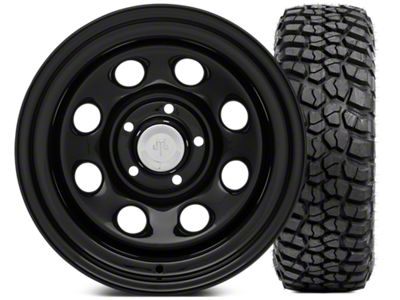 Mammoth 8 Steel 15x10 Wheel & BFG KM2 33x10.5- 15 Tire Kit (87-06 Jeep Wrangler YJ & TJ)