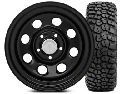 Mammoth 8 Steel 15x8 Wheel & BFG KM2 33x10.5- 15 Tire Kit (87-06 Jeep Wrangler YJ & TJ)
