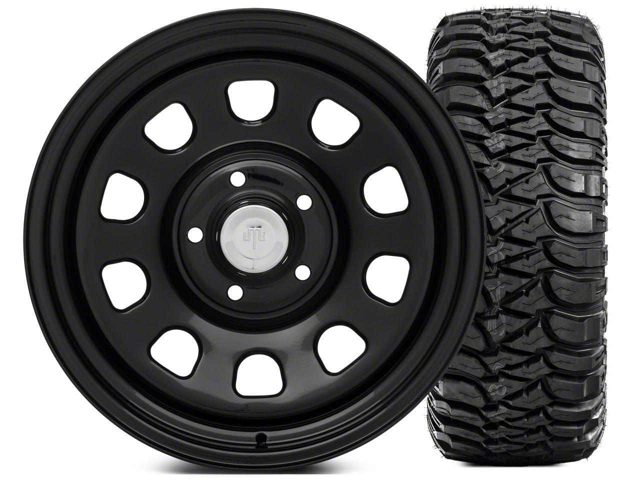 Mammoth D Window Steel 17x9 Wheel and Mickey Thompson Baja MTZ 305/65-17 Tire Kit (07-18 Jeep Wrangler JK)