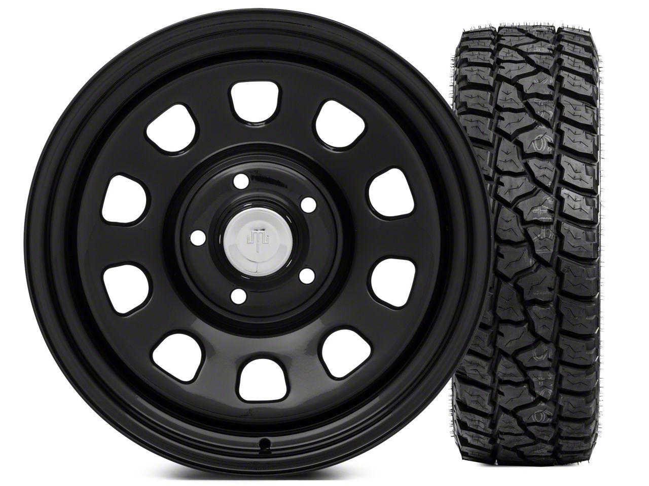 Mammoth D Window Steel 17x9 Wheel and Mickey Thompson Baja ATZP3 LT265/70R17 Tire Kit (07-18 Jeep Wrangler JK)