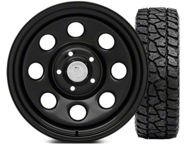Mammoth 8 Wheel - Steel 17x9 Wheel and Mickey Thompson Baja ATZP3 LT285/70R17 Tire Kit (07-18 Jeep Wrangler JK)