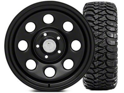 Mammoth 8 Wheel - Steel 17x9 Wheel and Mickey Thompson Baja MTZ 305/65-17 Tire Kit (07-18 Jeep Wrangler JK)