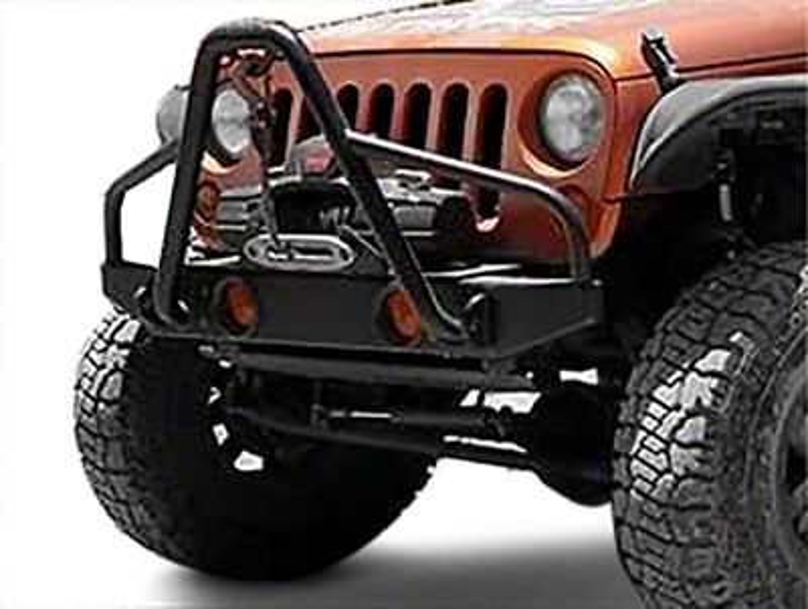 Olympic 4x4 Boa Rock Front Bumper - Textured Black (07-18 Jeep Wrangler JK)