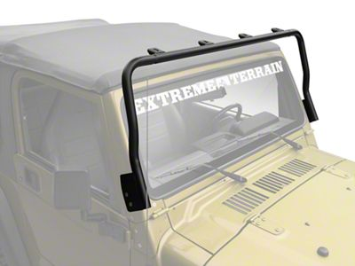 Olympic 4x4 Maxi Light Bar - Textured Black (97-06 Jeep Wrangler TJ)