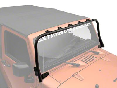 Olympic 4x4 Maxi Light Bar - Textured Black (07-18 Jeep Wrangler JK)