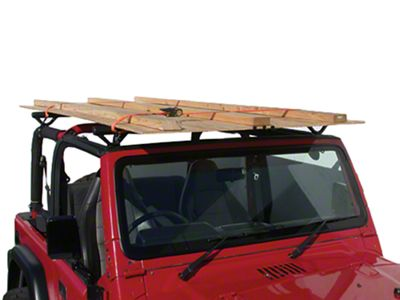Olympic 4x4 Quick n Easy Rack - Textured Black (04-06 Wrangler TJ Unlimited)