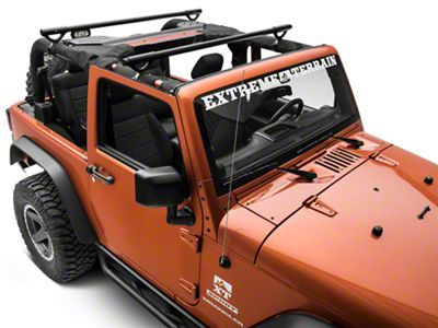 Olympic 4x4 Quick n Easy Rack - Textured Black (07-18 Jeep Wrangler JK 2 Door)