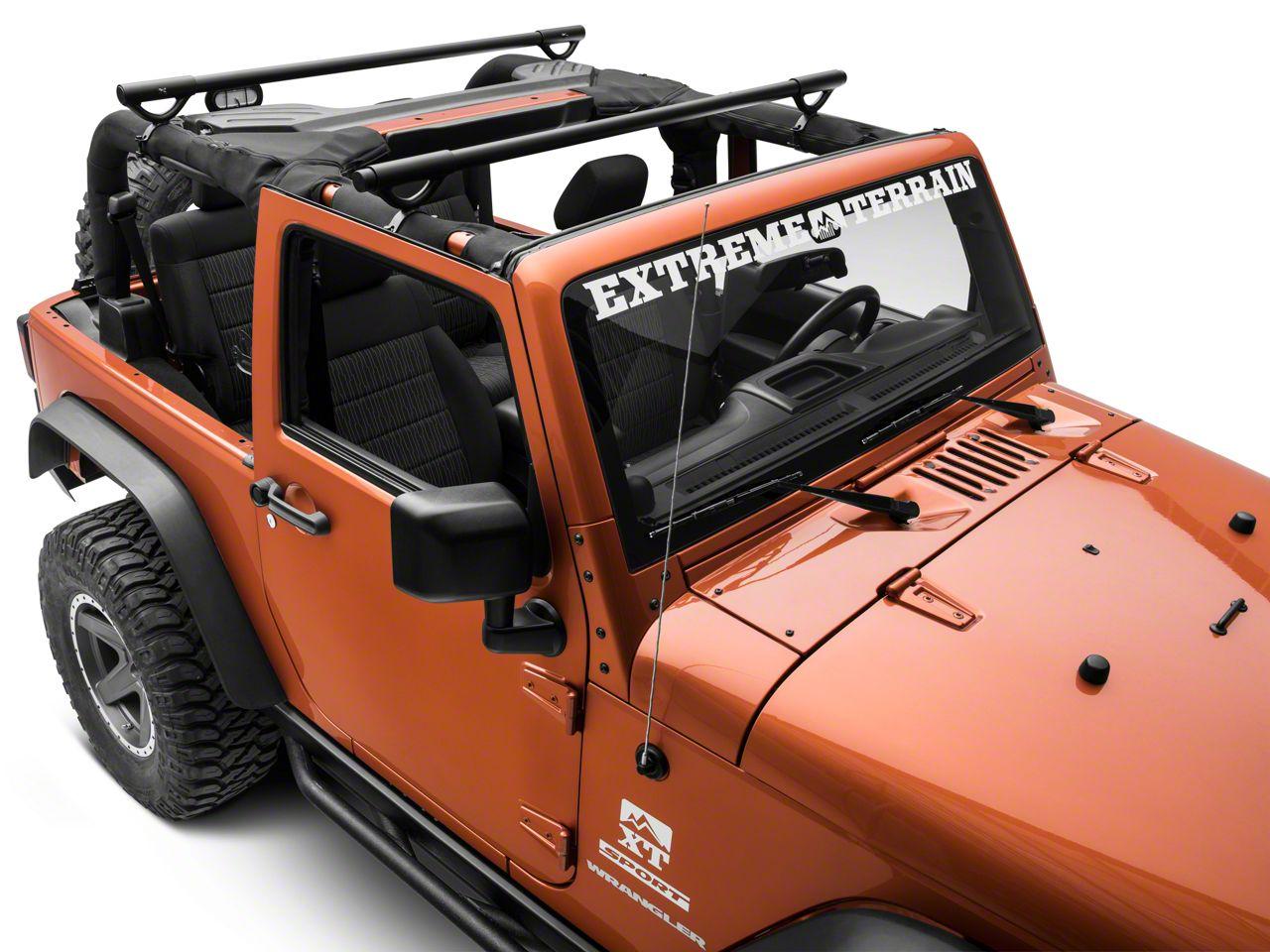 Olympic 4x4 Quick n Easy Rack - Textured Black (07-18 Jeep Wrangler JK 2 Door)